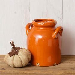 Orange Crackle Small Pottery Jug
