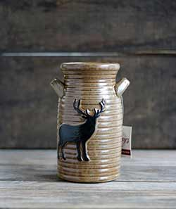 Deer Pottery Jug