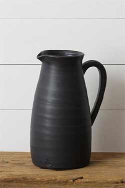 Black Matte Large Pitcher