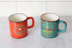 Emma's Bakery & Farm Fresh Organic Retro Mugs (Set of 2)