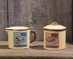 Retro Creamer & Sugar Set
