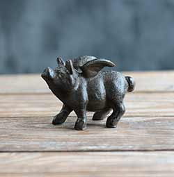 When Pigs Fly Cast Iron Figurine
