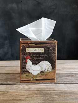 Rooster Tissue Box Cover