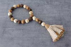 Farmhouse Beads Ornament with Tassel