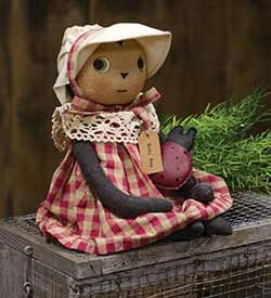 Ladybug Primitive Doll