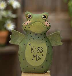 Kiss Me Frog Primitive Doll