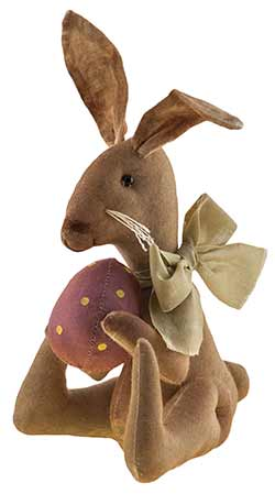 Primitive Bunny Doll with Strawberry