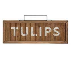 Tulips Framed Sign