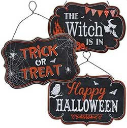 The Witch is In Halloween Hanger Set