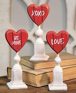 Valentine Heart on Pedestal (Choose style)