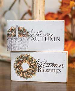 Welcome Autumn Shelf Sitters (Set of 2)