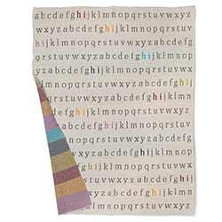 Alphabet Baby Throw Blanket