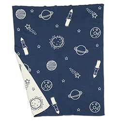 Rockets & Planets Small Throw Blanket