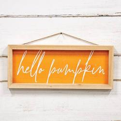 Hello Pumpkin Framed Sign