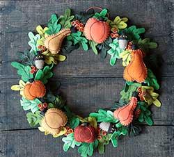 Pumpkin & Gourd Wreath