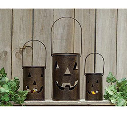 Jack o Lantern Luminaries (Set of 3)