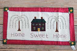 Home Sweet Home Table Runner with Willow Trees