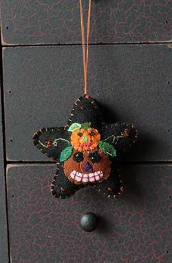 Pumpkin Star Ornament