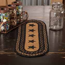 Farmhouse Star Braided 24 inch Table Runner