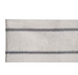 Tan with Black Stripe 35 inch Table Runner