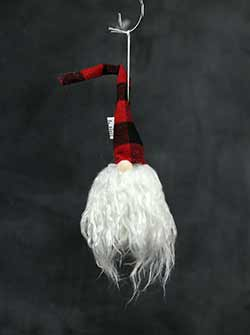 Angora Santa Gnome Ornament