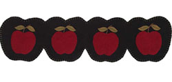 Apple Harvest Felt Table Runner - 36 inch