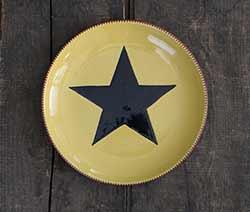 Black Star on Yellow Plate