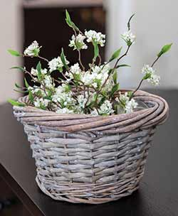 Gray Small Willow Basket