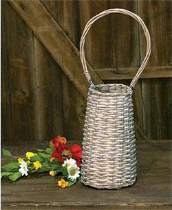 Graywash Willow Basket