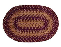 Vintage Star Burgundy Braided Placemat