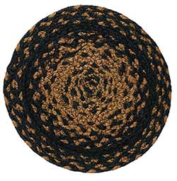 Ebony Black and Tan Braided Trivet