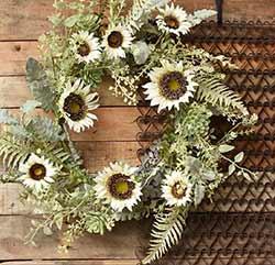 Sunflower & Succulent Wreath