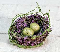 Violet & Moss Bird's Nest with Eggs