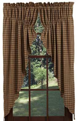 Barrington Prairie Curtain (Green Plaid)