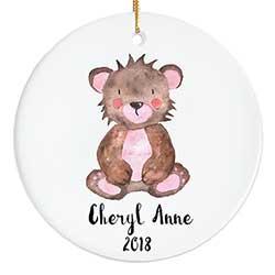 Teddy Bear Personalized Ornament