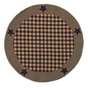 Black Applique Star Tablemat - 20 inch