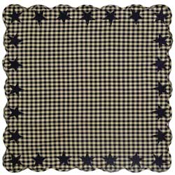 Black Star Tabletopper/Tablecloth (Black and Tan)