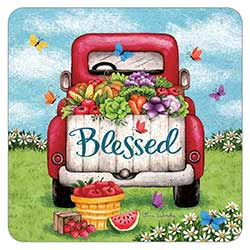 Blessed Red Truck Coaster