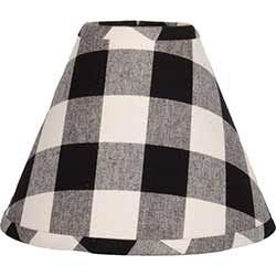 Buffalo Check Black Lamp Shade - 10 inch