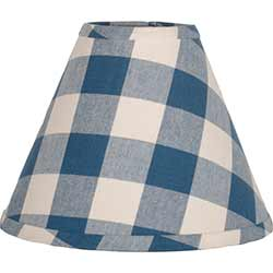 Buffalo Check Blue Lamp Shade - 10 inch