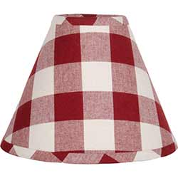 Buffalo Check Red Lamp Shade - 10 inch