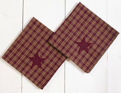Burgundy Applique Star Napkins (set of 2)