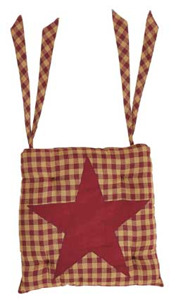 Burgundy Star Chair Pad