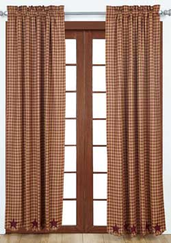 Burgundy Star Panels - 84 inch