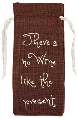 Burlap Brown Wine Bag