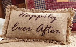 Burlap Natural Pillow - Ever After