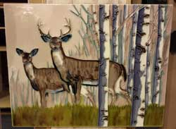 Deer Art Tile