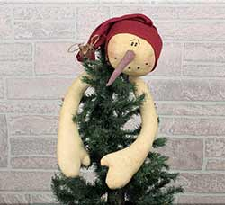 Hugging Snowman Tree Topper with Stocking Hat