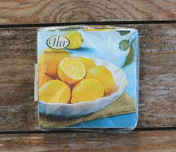 Lemon Bowl Cocktail Napkin