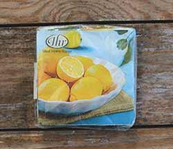 Lemon Bowl Cocktail Napkin